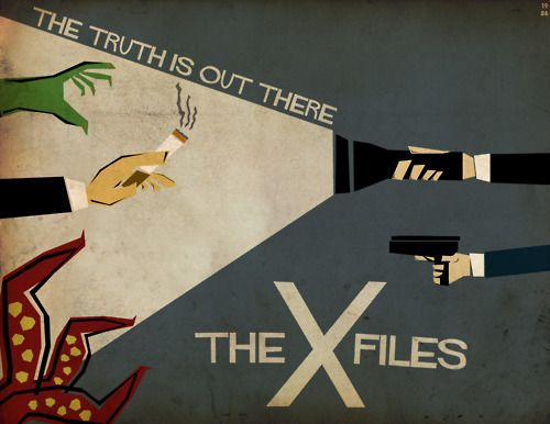 The X-Files by Adam Benedict. I love this poster, especially with The Smoking Man's cigarette.