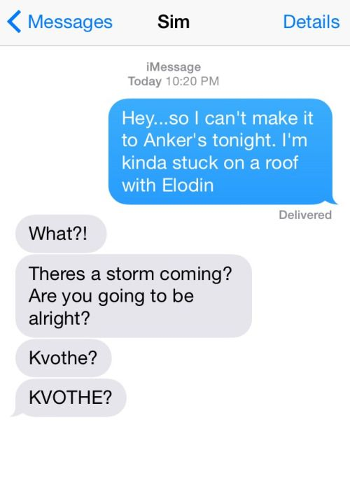 Texts from the Kingkiller Chronicle