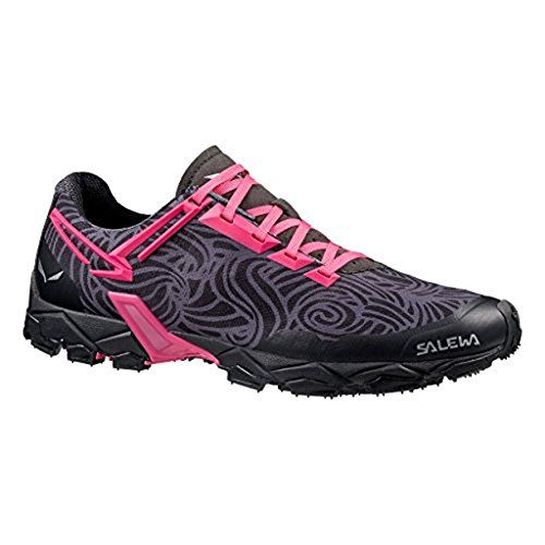 Salewa Womens Lite Train Shoes Black Pinky 85 ETip Glove Bundle ** Want to  know