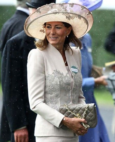 Carole Middleton wears a Jane Corbett hat at Royal Ascot 2011.