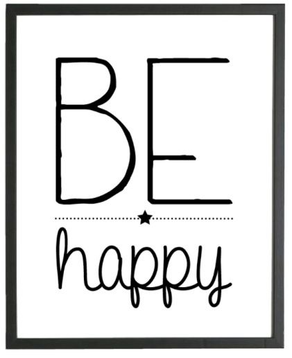 Poster Be Happy   Posters   INSTANT CRUSH