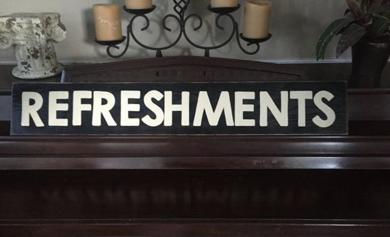 REFRESHMENTS Home Movie Theater Decor Snack by ShabbySignShoppe