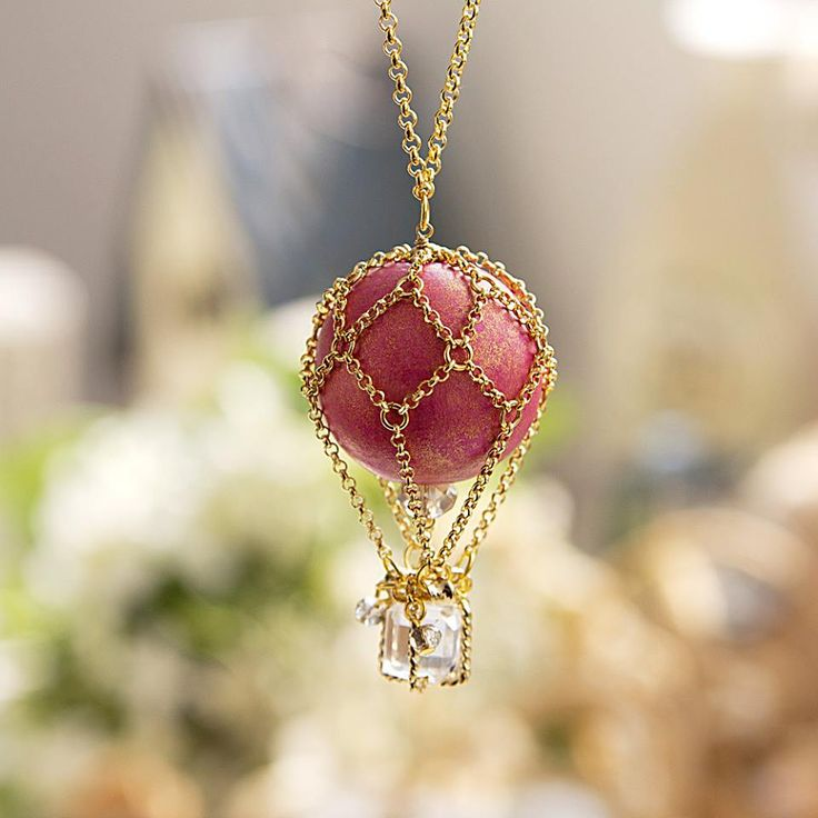 Hot Air Balloon Pendant It would take some figuring but I think I could do it.