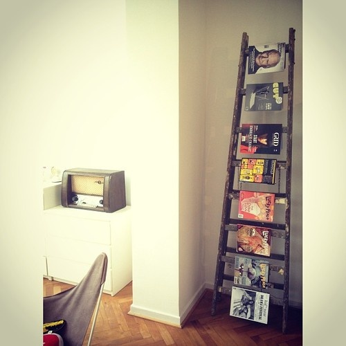 Ladders as magazine rack