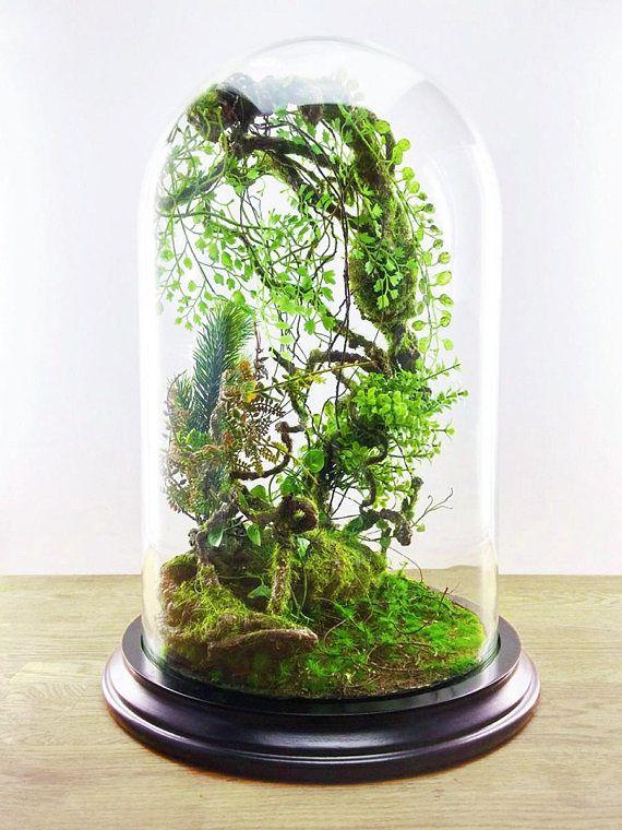 Terrarium Mirage Of An Enchanted Forest Handmade Artificial