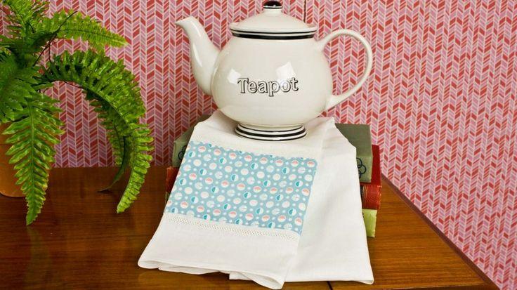 Make a tea towel.  Easy video tutorial to show you how
