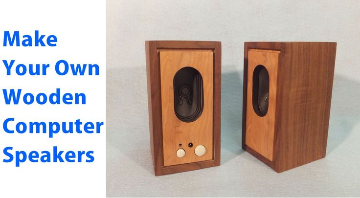 How to Make Wood Speakers for Your Computer. #woodworkingprojects #diy