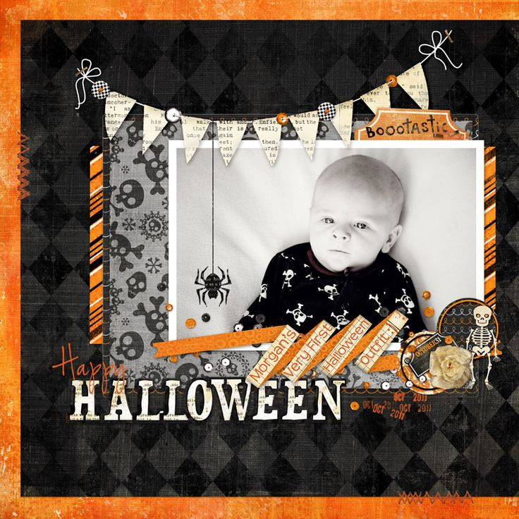 Happy Halloween - Scrapbook.com; like the colors not a big Halloween person but this works