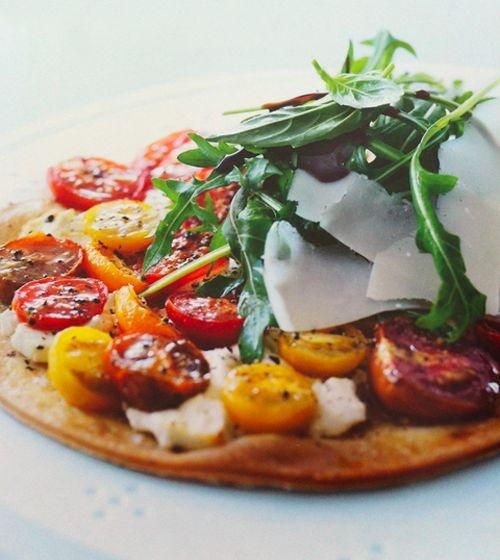 ... pizza | ♥ food ♥ | Pinterest | Tomato Mozzarella, Arugula Pizza