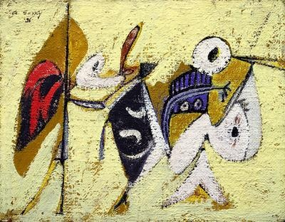 Arshile Gorky Battle at sunset with the God of the Maize: Sculpture Garden, Abstract Art, Sunsets, Maiz Composition, Gorki Battle, Arshil Gorkybattl, 1904 1948, Arshil Gorki, Abstract Expressionist