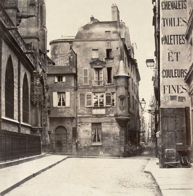Rue des Prêtres - Saint Germain l'Auxerrois - Paris 1er - vers 1865