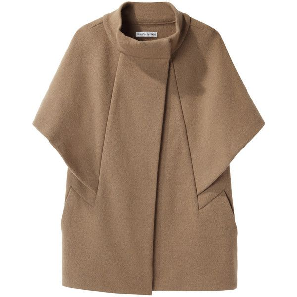 Tsumori Chisato Double Knit Cape Jacket found on Polyvore This requires some serious consideration in terms of cut. It sparks Ideas.