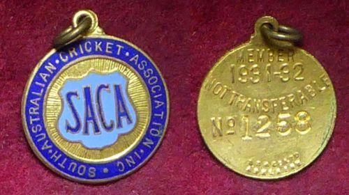 1931-32-South-Australian-Cricket-Association-Members-Badge