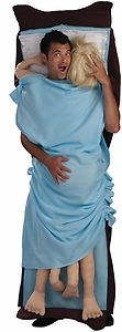 Double Occupancy Funny Raunchy Adult Male Costume for Contests and Halloween Celebration..