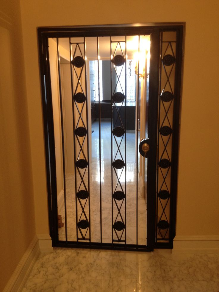 Our Designed Security Door Gates Fitted Externally To The Door Of An  Apartment In Central London
