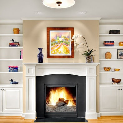 Shelves Next To Fireplace Design Pictures Remodel Decor