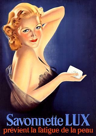 Savonnette Lux soap vintage advertisement, France