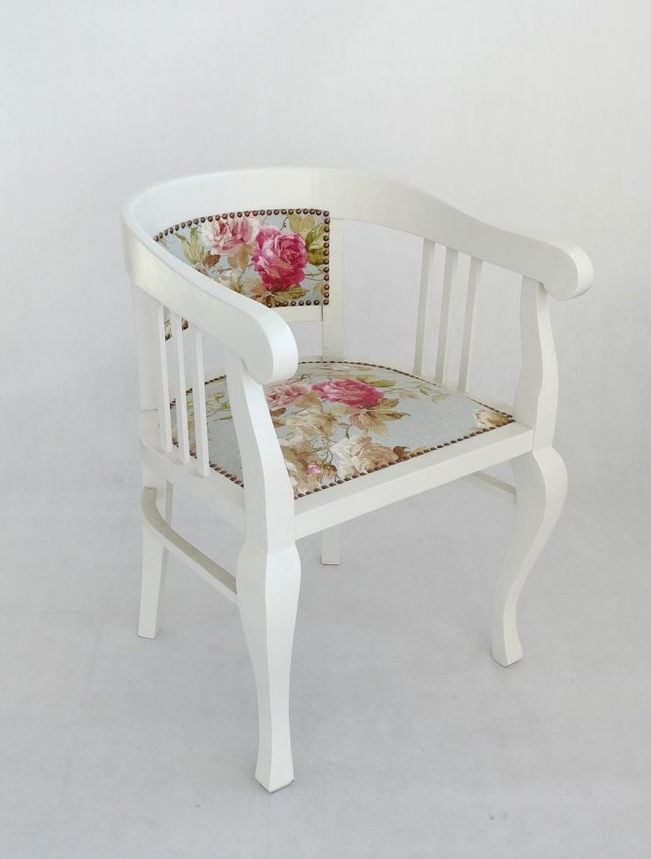 Classic armchair with romantic rose drape