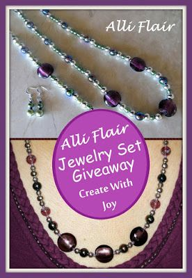 """16 Hours Left to Enter! #Win a set of Alli Flair #Jewelry! #giveaway #handcrafted #unique ~ Amanda's Books and More ~ Quote by Create With Joy, """"I am a fan of all things hand-crafted, sparkly and beautiful..."""" and """"I absolutely love the jewelry Tina made me...""""  ~ Don't miss your chance to win a set! http://www.create-with-joy.com/2015/11/alli-flair-jewelry-review-giveaway.html"""
