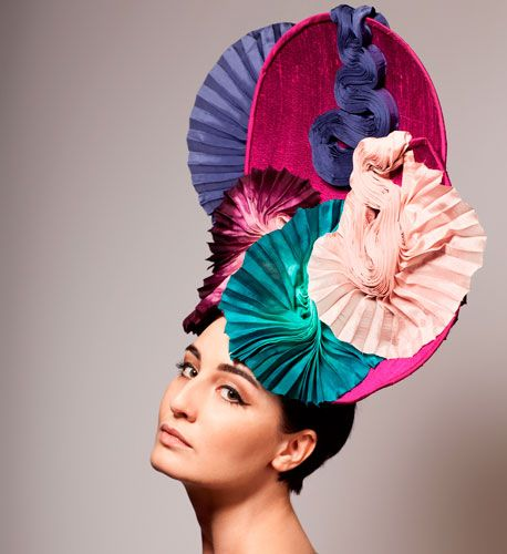 Louis Mariette, designer and milliner extraordinaire of wild ready-to-wear hats, fascinators, and bejeweled headpieces.
