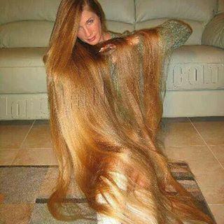 NANNIE: Blonde long hair porn