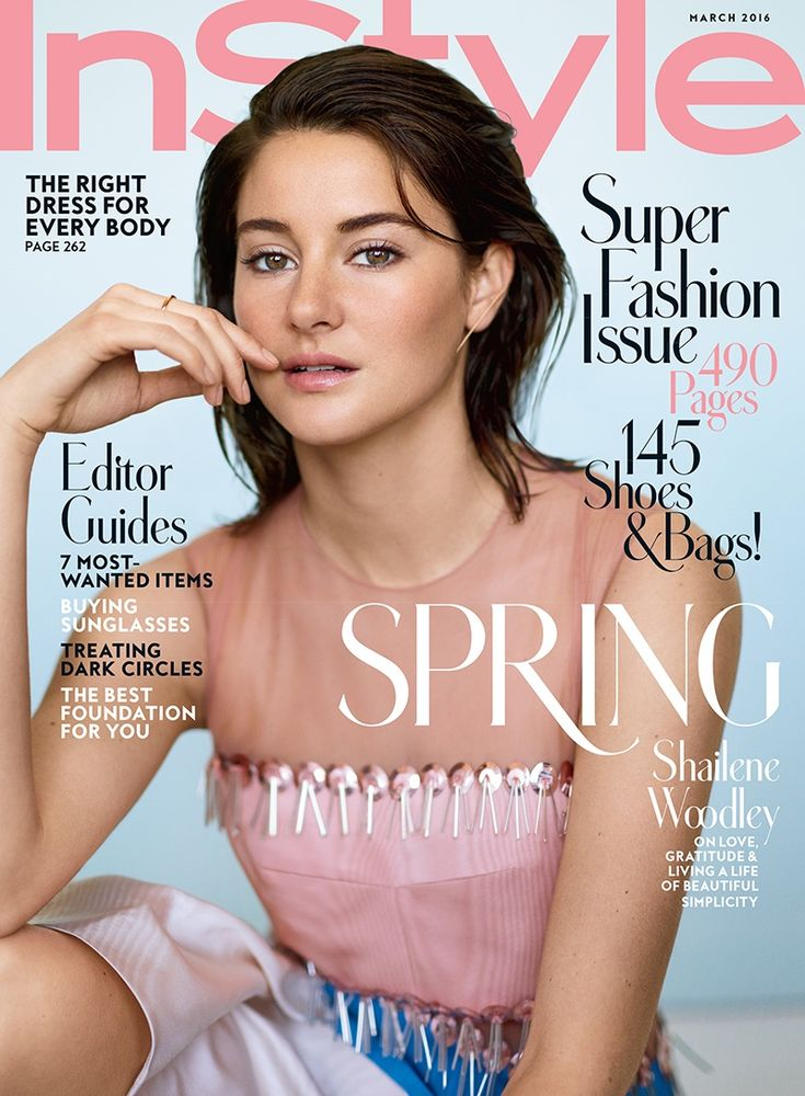 Shailene Woodley on InStyle Magazine March 2016 cover