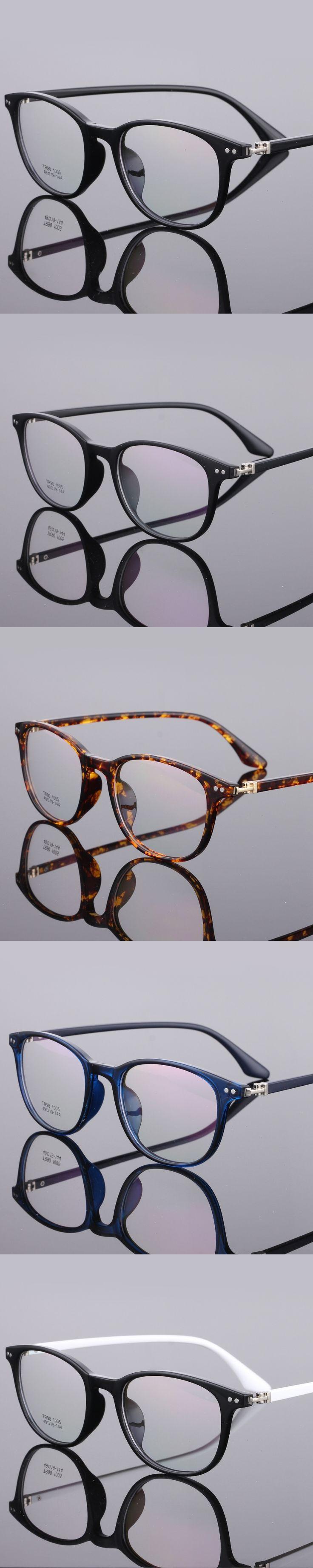 The New TR90 women Glasses frame retro optical clear Full box Eyeglasses frame Men prescription glasses frames 1005