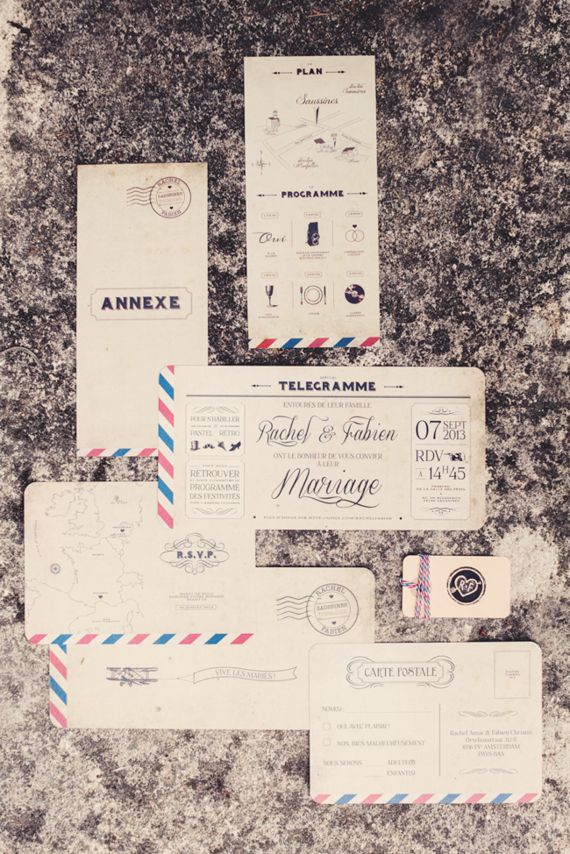 French wedding invitations Photo by Anne Claire