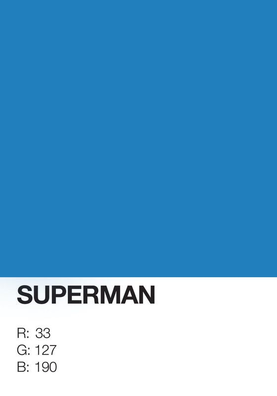 Pantone Superheroes Superman