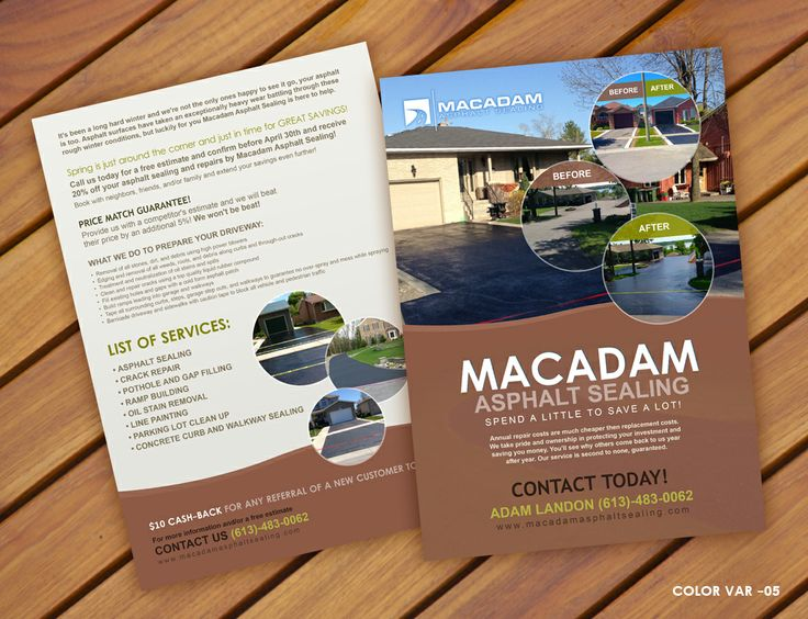 Macadam Asphalt Sealing Flyer Design