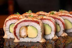 ペルーの食文化に巻き寿司である「マキ」を広げた「エド・スシ・バー」の「アセビチャード」(セビーチェ・マキ)。ソースは秘伝のレシピで作られる Photo by Edo Sushi Bar