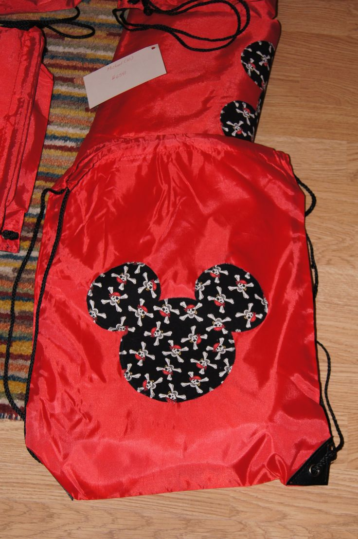 Mickey pirate appliqued backpacks for boys; Disney Cruise FE gifts; Disney Magic 8 December 2012