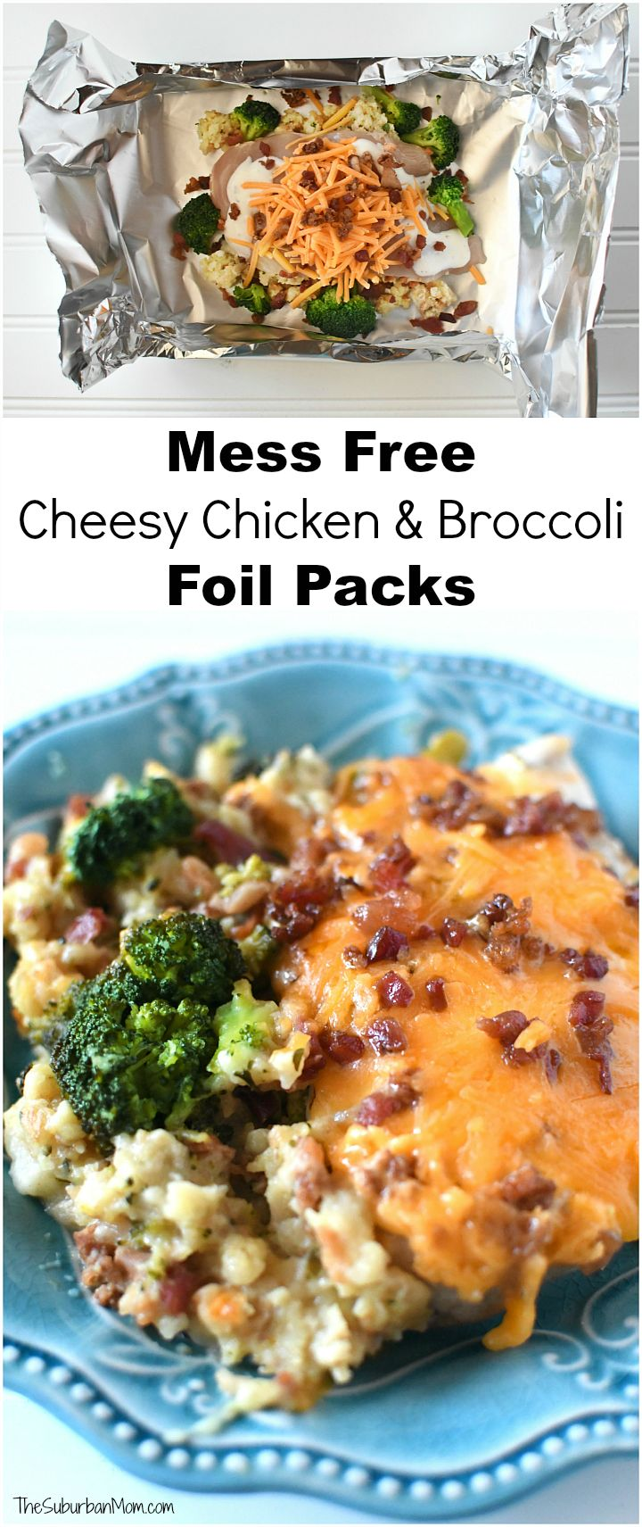 Chicken and Broccoli Cheese Packets   – Foil cooking