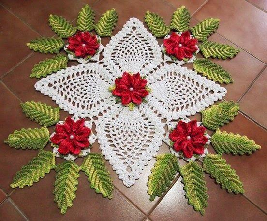 Crochet OF ELSA: Ideas for Christmas 8- Centerpiece Natalino