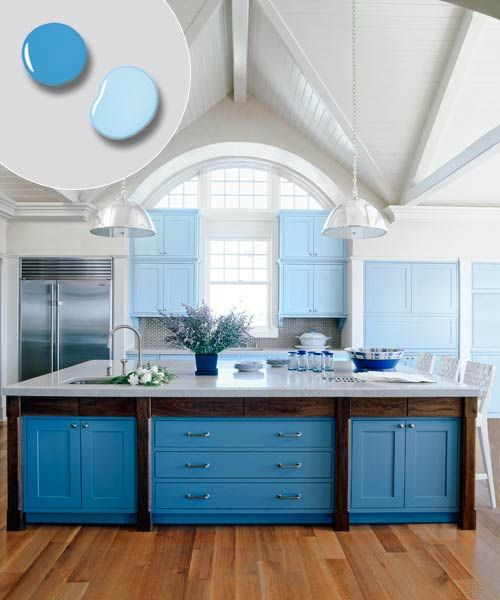 mesmerizing kitchen cabinet colo | Large open plan kitchens, Kitchen cabinets and Deep blue ...