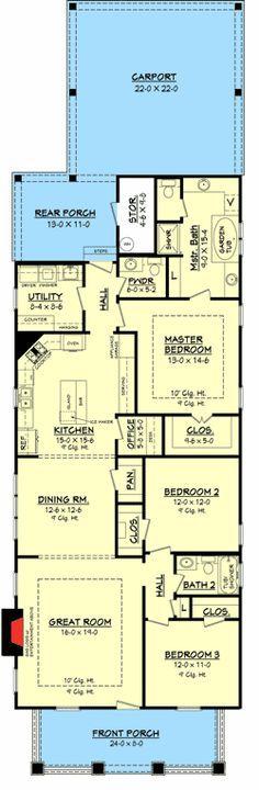 Plan W11778HZ: Corner Lot, Metric, Narrow Lot, Photo Gallery House Plans & Home Designs