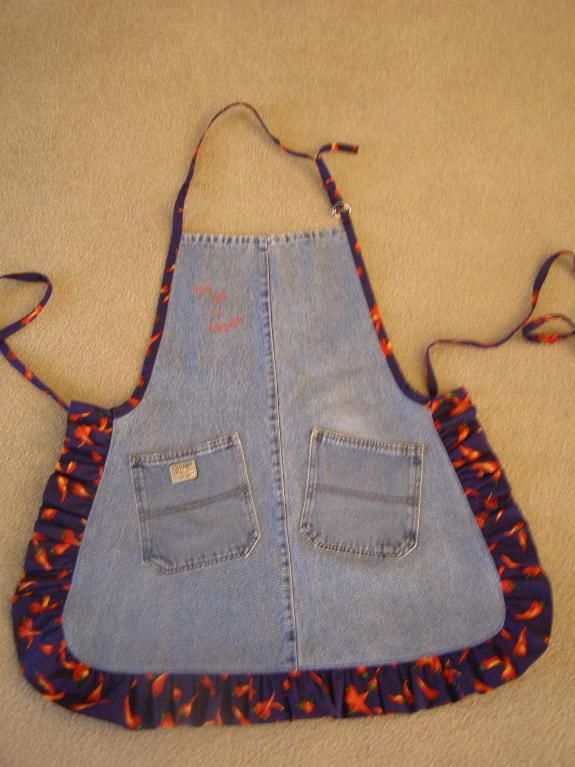 Blue Jean Apron Patterns Free | Sewing Ideas | Project on Craftsy: Jean Apron