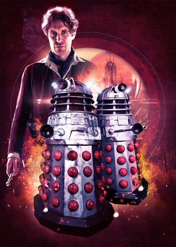 DOCTOR WHO - '8th Doctor And The Daleks' A3 poster print in Collectables, Science Fiction, Doctor Who | eBay