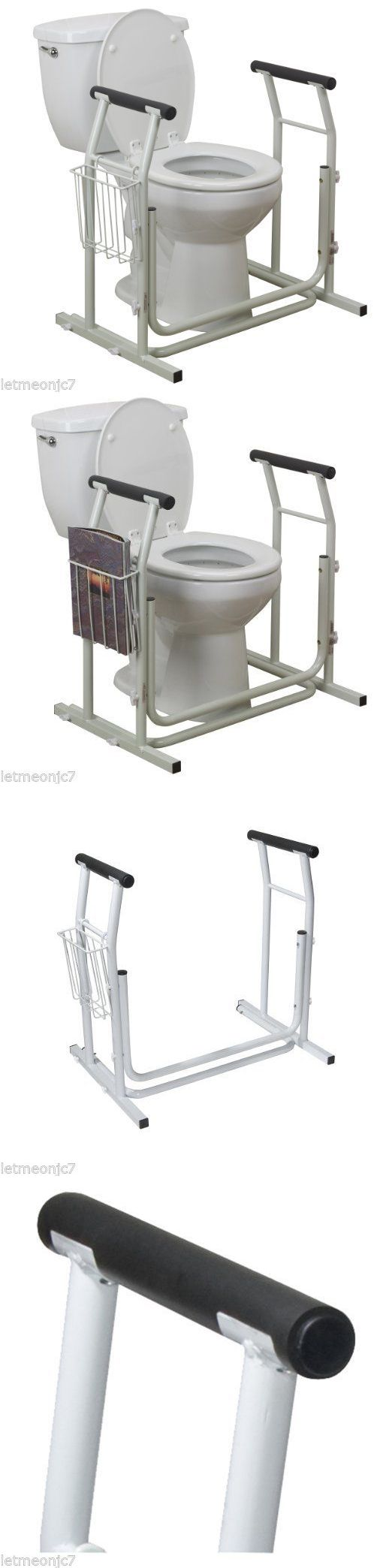 Handles and Rails: Driver Medical Stand Alone Toilet Safety Rail Frame Support Bathroom Grab Bar BUY IT NOW ONLY: $47.85