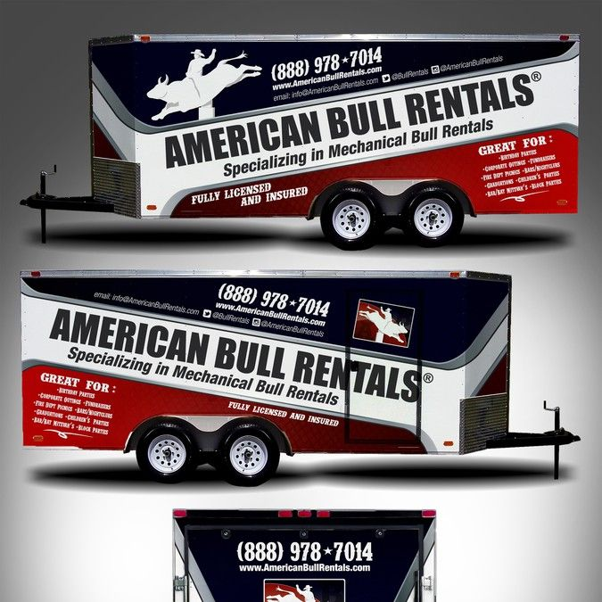 Mechanical Bull Trailer Wrap by adelea