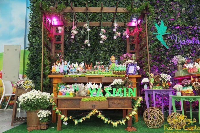 Mesa decoração fadas tinker bell yasmin