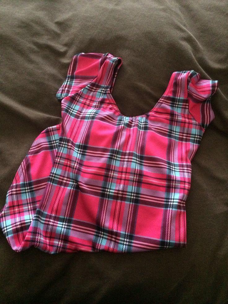 Tartan Pink Cap sleeve bodysuit