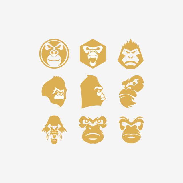 Gorilla Head Vector Monkey Head Vector Logo Logo Icons Head Icons Monkey Icons Png And Vector With Transparent Background For Free Download Retro Vector Illustration Monkey Icon Monkey Logo