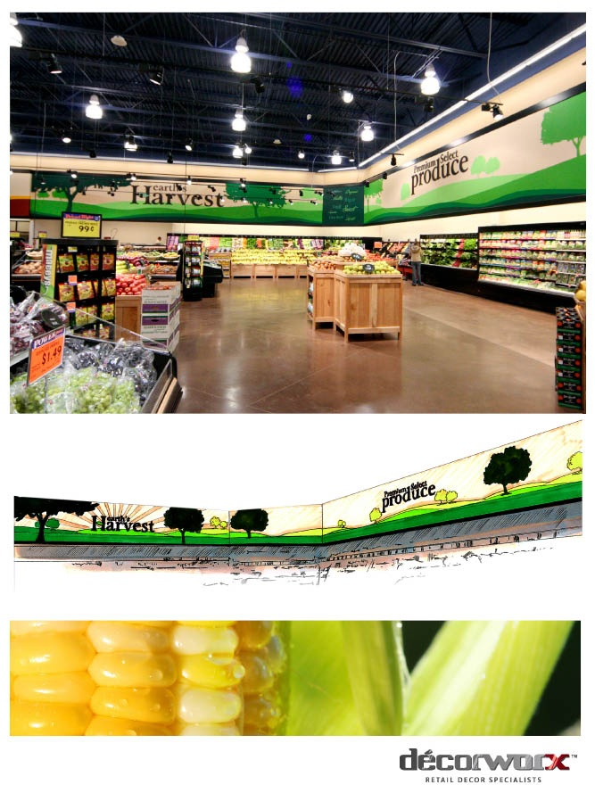 Produce, #Decorworx #Retail Design