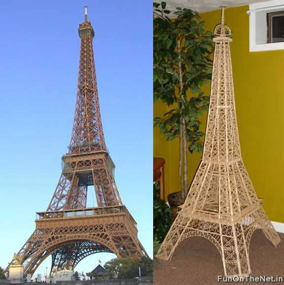 how to make the eiffel tower out of toothpicks