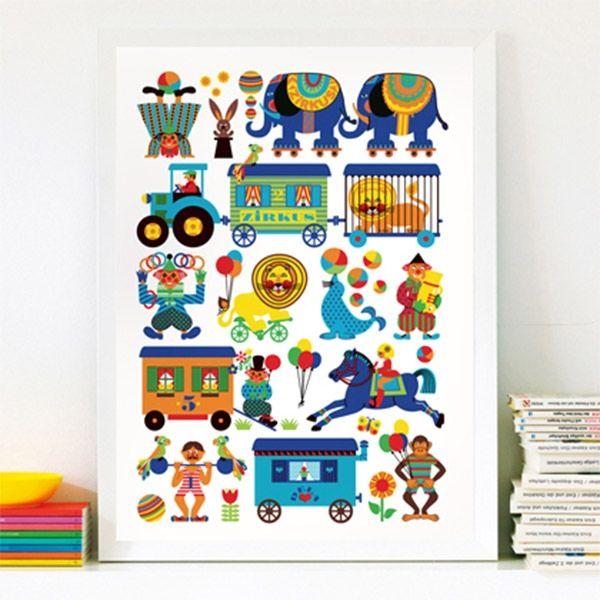 Poster Zirkus von byGraziela, 19,90 €