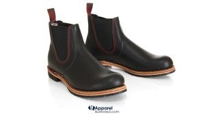 black chelsea boots from red wing