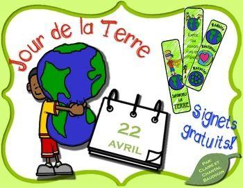 Il est important de souligner le Jour de la Terre avec les élèves. Célébrons en donnant un signet ou faites-en une activité de coloriage! Ressource gratuite!