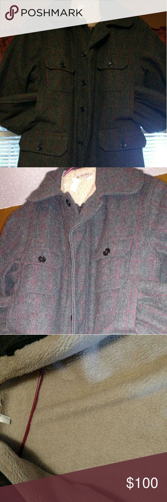 !No low-balling!/Vintage Malone Bemidj Wool coat. Vintage Malone Bemidj Wool Mills Hunting coat. This is a very nice pre owned Insulated coat it Zips and buttons up. No holes rips stains. Size 44 witch is a XL Bemidji Woolen Mills Jackets & Coats