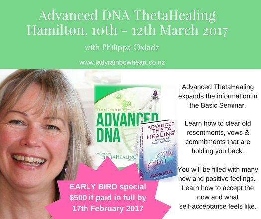 Continue on from ThetaHealing Basic with Advanced DNA - where you will learn how to clear old resentments that are holding you back in 2017  www.ladyrainbowheart.co.nz